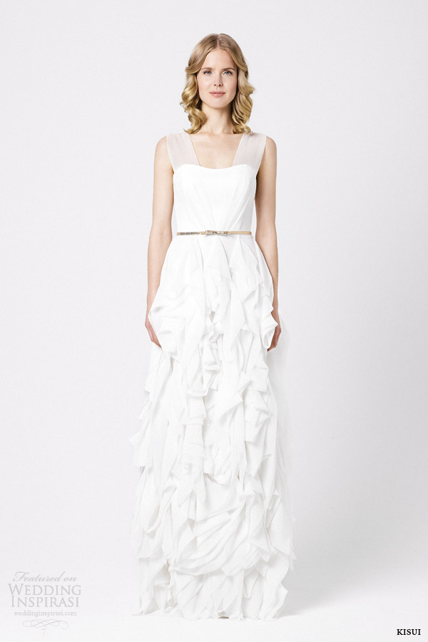kisui bridal 2015 ivy sleeveless wedding dress
