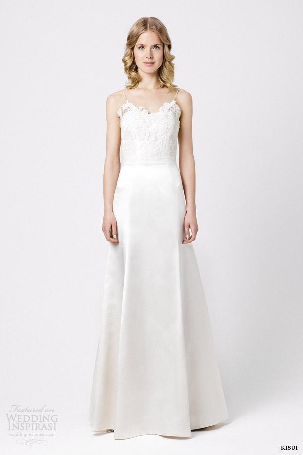 kisui bridal 2015 jasmin wedding dress lace bodice straps