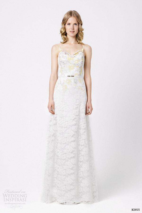 kisui bridal 2015 soley wedding dress colored lace