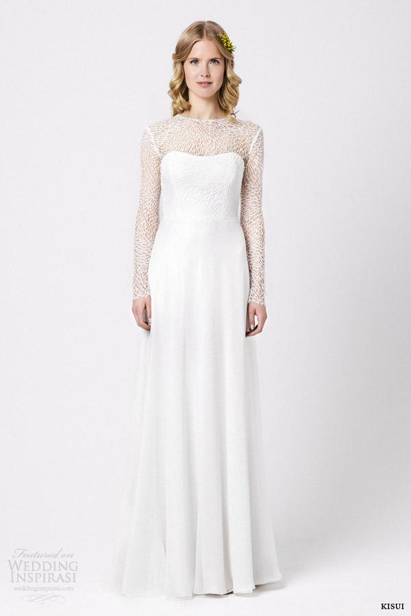 kisui wedding dresses 2015 lis long sleeve gown
