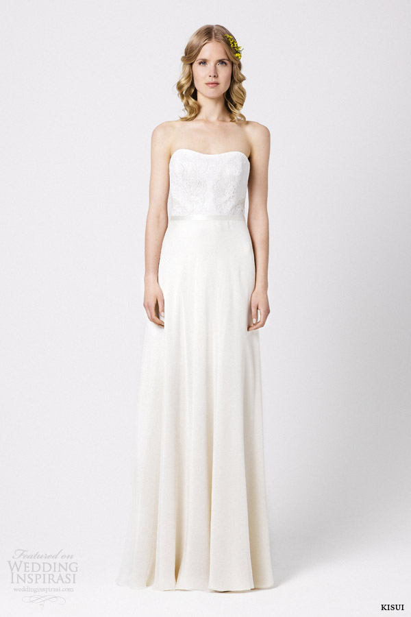 kisui wedding dresses 2015 lunaria strapless gown