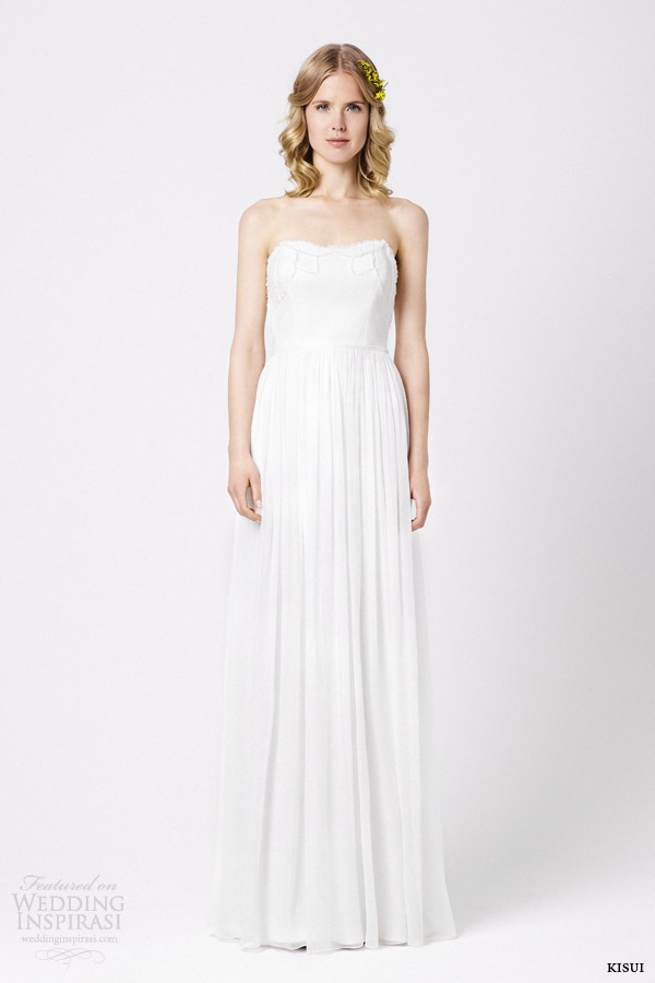 kisui wedding dresses 2015 magnolia strapless gown