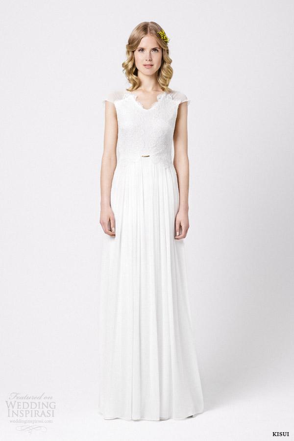 kisui wedding dresses 2015 marguerite cap sleeve gown