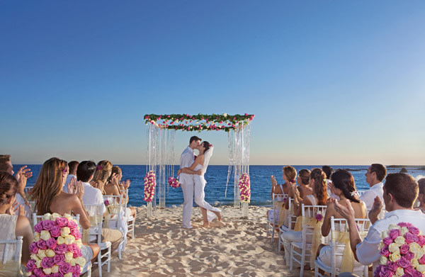 secrets marquis los cabos destination wedding on the beach ceremony