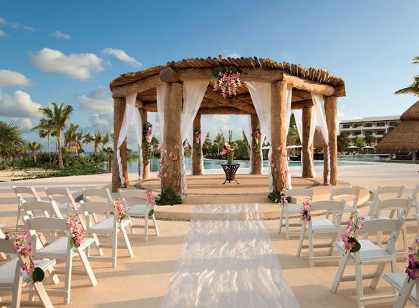 wedding gazebo at secrets resorts maroma beach riviera cancun mexico