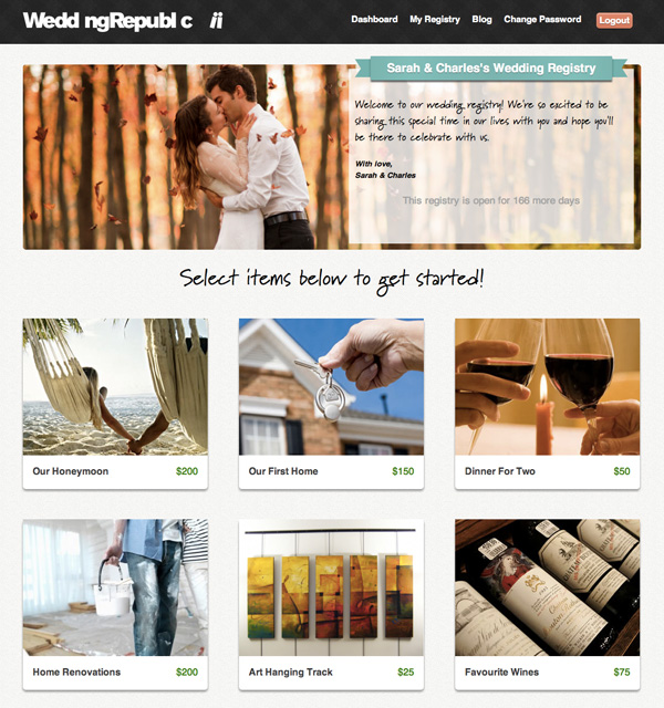 wedding republic online cash wedding registry