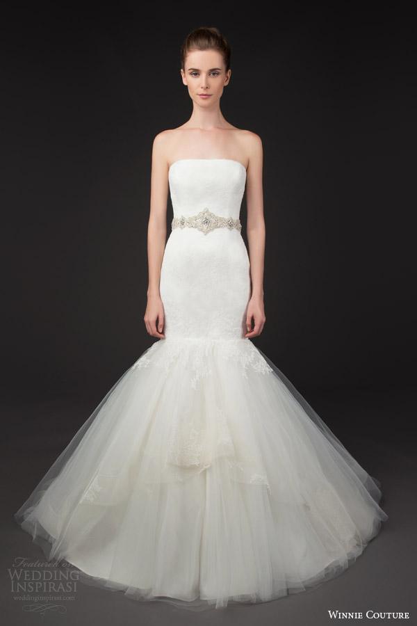 winnie couture 2014 blush label gabby strapless mermaid wedding dress belt