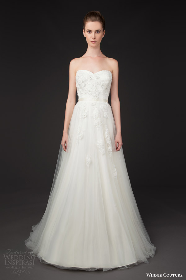 winnie couture bridal 2014 blush label annette strapless sweetheart wedding dress