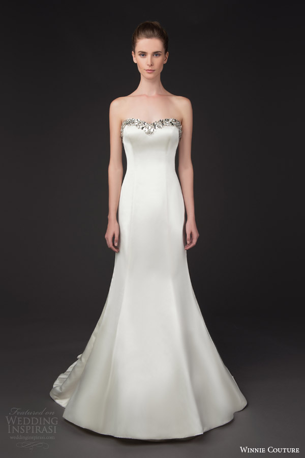 winnie couture bridal 2014 blush label blair strapless wedding drss