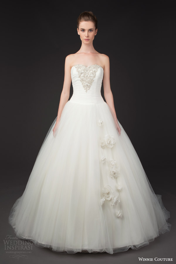 winnie couture bridal 2014 blush label florence strapless ball gown wedding dress