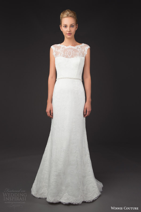 winnie couture bridal 2014 blush label sevina illusion cap sleeve wedding dress