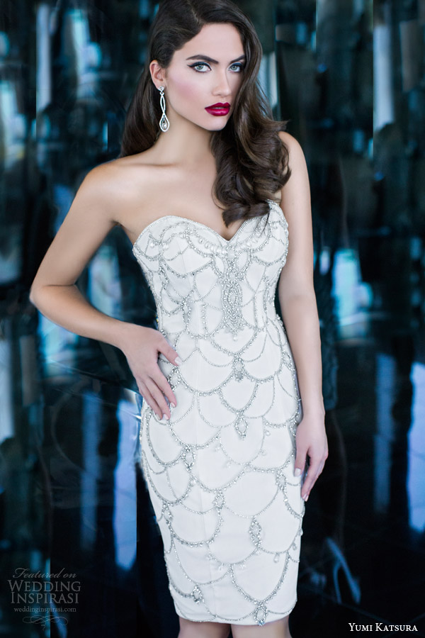 yumi katsura 2015 isis strapless embellished wedding dress