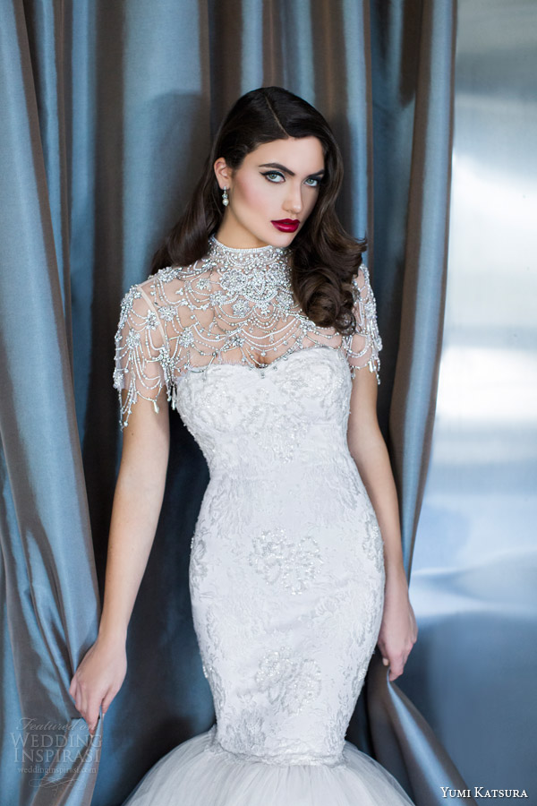 yumi katsura couture bridal 2015 artemis wedding dress with asa bolero