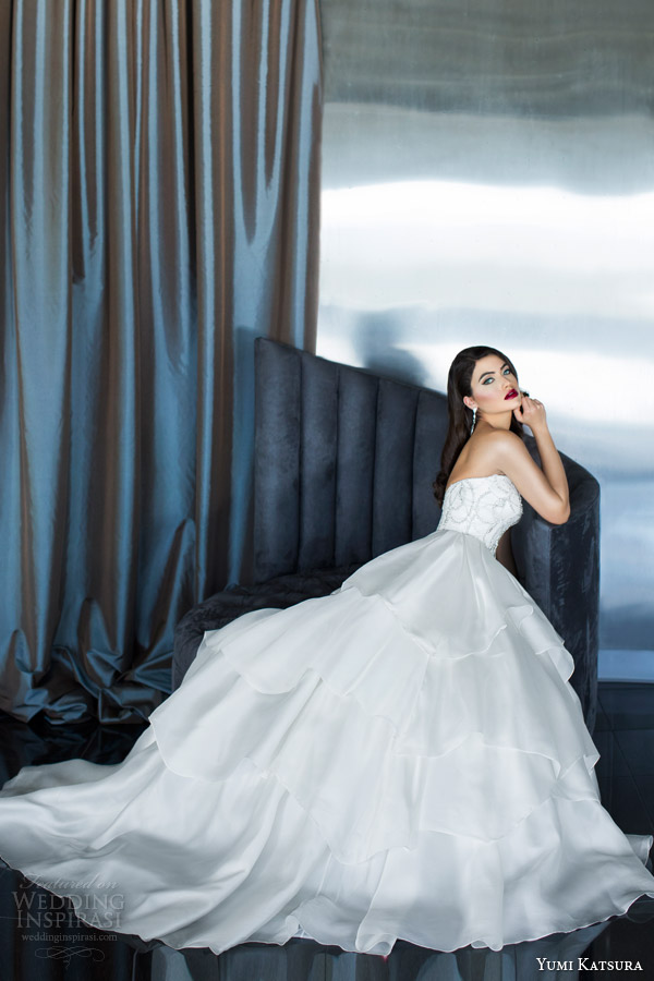 yumi katsura couture bridal 2015 atalanta strapless wedding dress