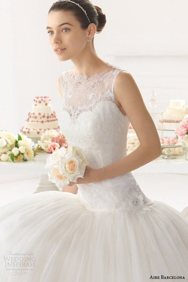 aire barcelona bridal 2015 oman sleeveless ball gown wedding dress