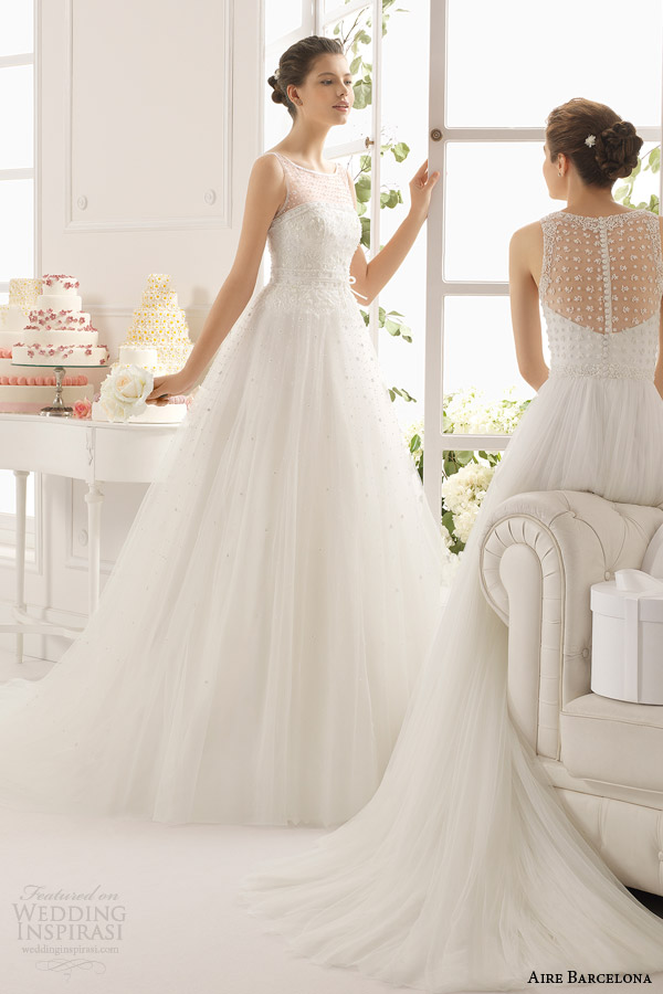 aire barcelona wedding dresses 2015 astan sleeveless ball gown wedding dress