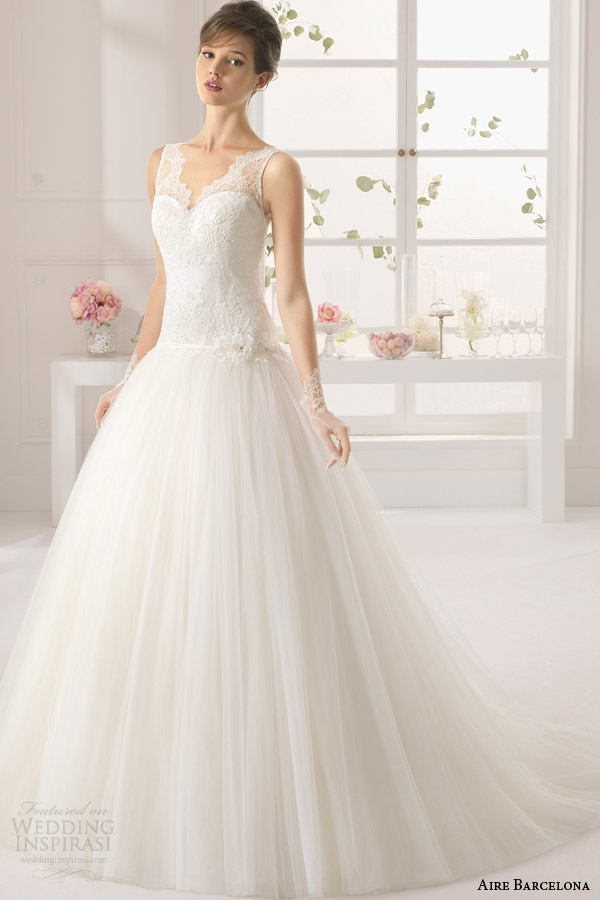 aire barcelona wedding dresses 2015 atlanta sleeveless drop waist wedding dress