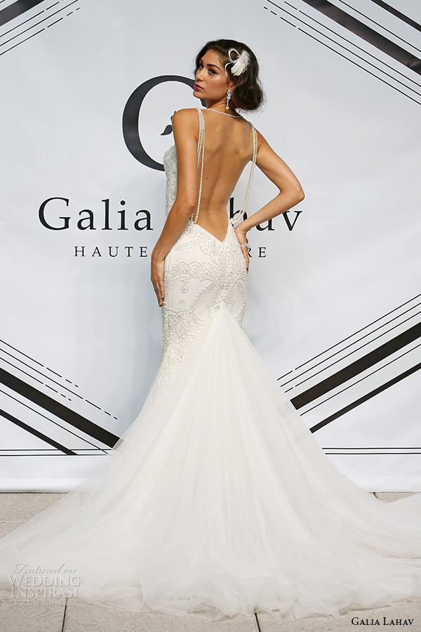 galia lahav fall 2015 bridal bustier sweetheart spagetti strap sheath wedding dress style nikita illusion low cut back