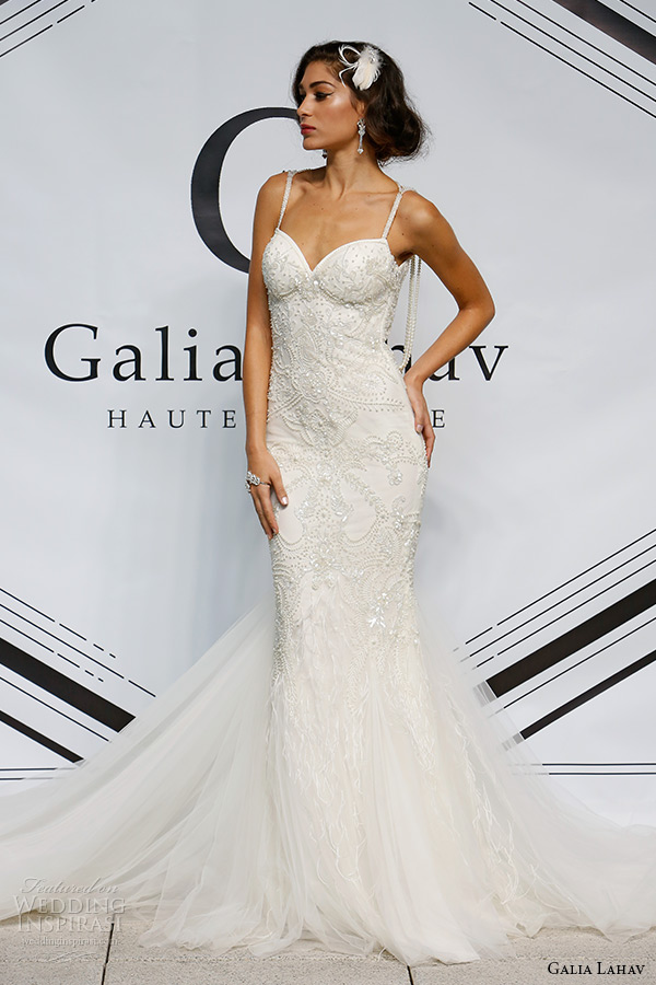 galia lahav fall 2015 bridal bustier sweetheart spagetti strap sheath wedding dress style nikita