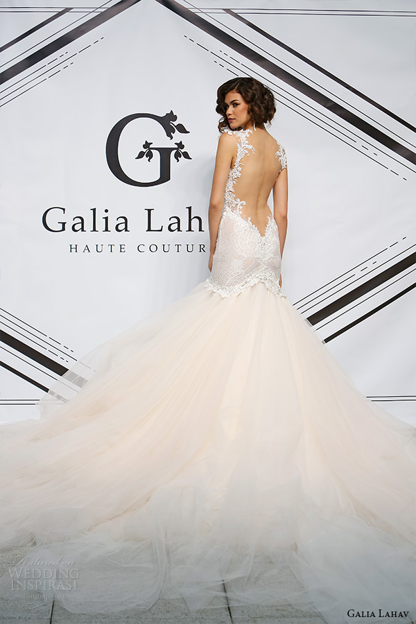 galia lahav fall 2015 bridal bustier sweetheart strap fit flare low cut back wedding dress style joyce back