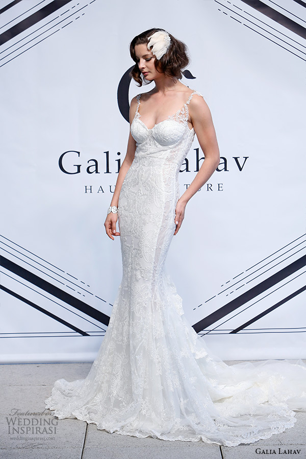 galia lahav fall 2015 bridal bustier sweetheart strap sheath wedding dress style daisy