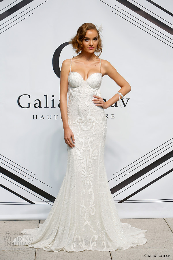 galia lahav fall 2015 bridal bustier sweetheart strap sheath wedding dress style katharina