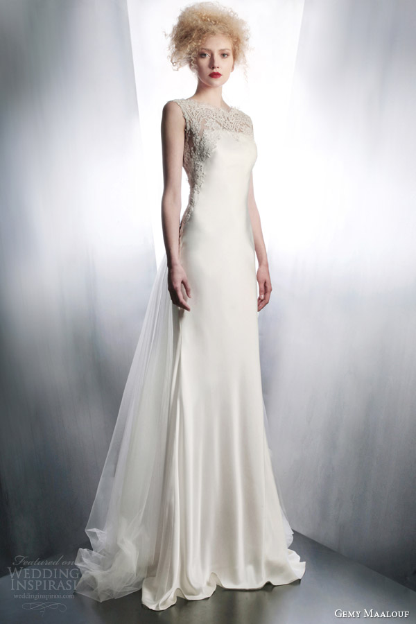 gemy maalouf bridal 2015 wedding dress style 4172