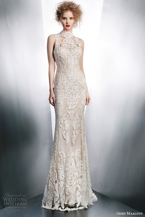 Non Traditional Wedding Dress Lace : Gemy maalouf wedding dresses part inspirasi