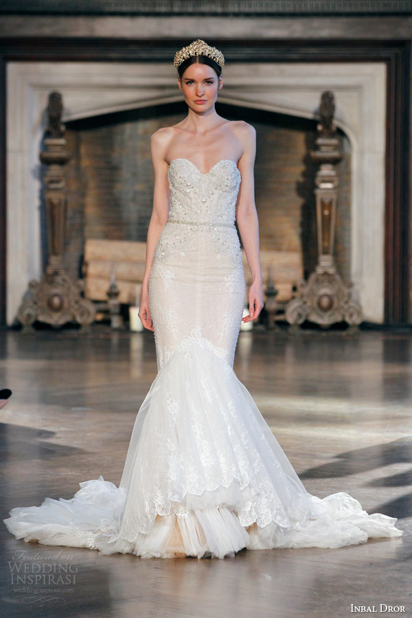 inbal dror bridal fall winter 2015 gown 15 beautiful strapless mermaid wedding dress