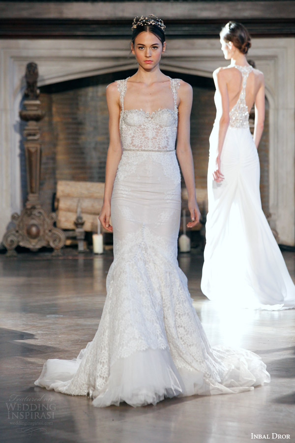Inbal Dror Bridal Fall Winter 2017 Gown 4 Mermaid Wedding Dress With Straps