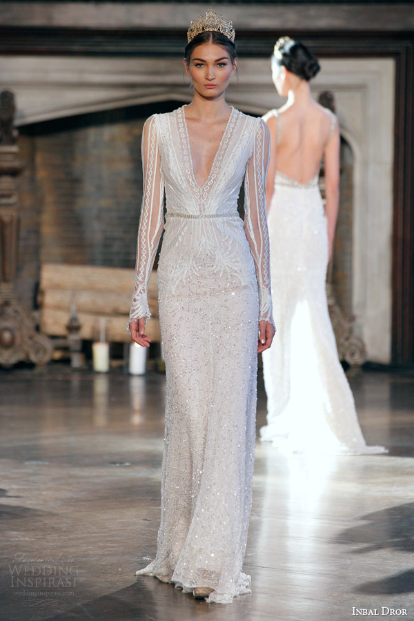 Winter Wedding Gowns With Sleeves 55 Good inbal dror bridal fall