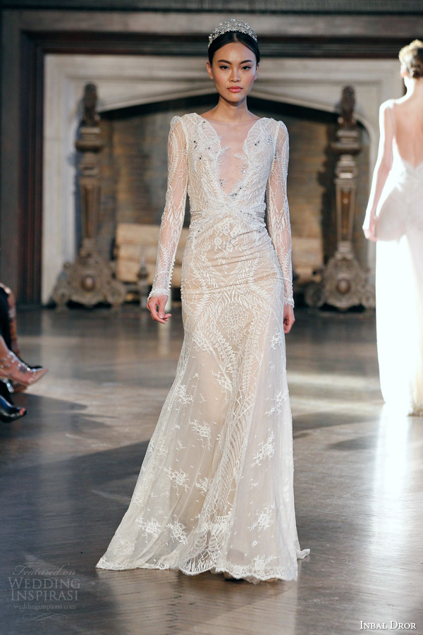 inbal dror bridal fall winter 2015 gown 9 long sleeve wedding dress