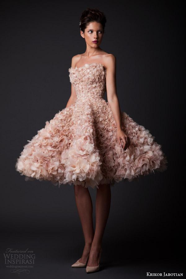 Krikor jabotian fall winter 2014 2015 amal collection for Short blush pink wedding dresses