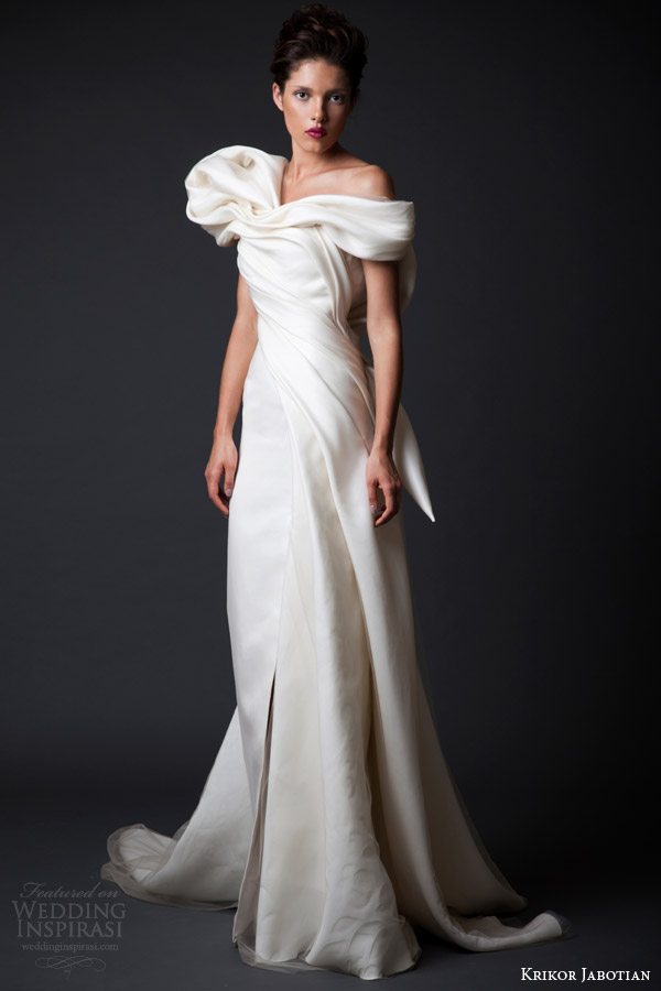 krikor jabotian wedding dresses fall winter 2014 2015 amal couture collection off shoulder gown
