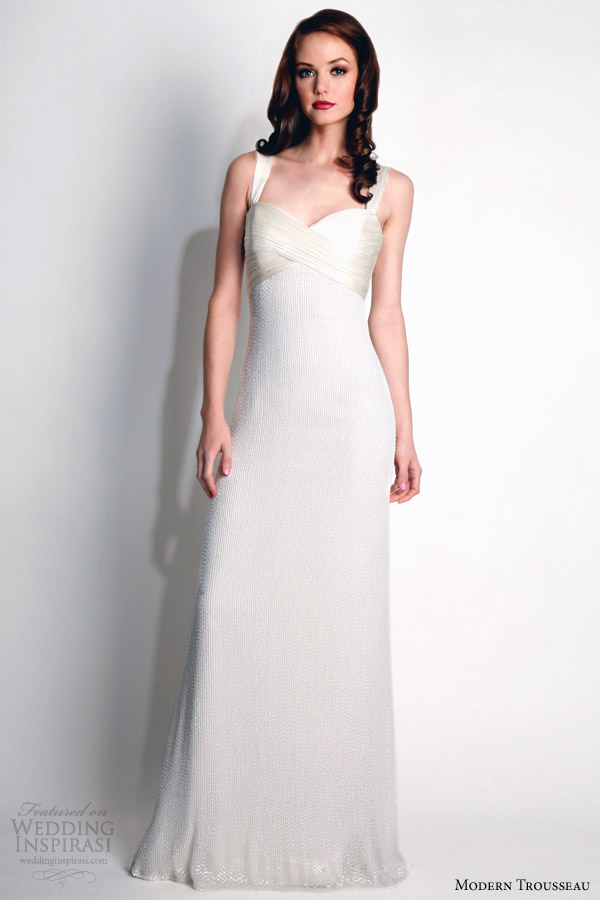 modern trousseau fall 2015 bridal shelby beaded chiffon gown with straps