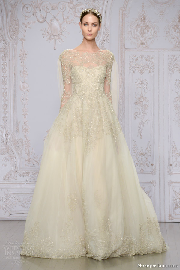 Monique Lhuillier Fall 2015 Wedding Dresses Wedding Inspirasi
