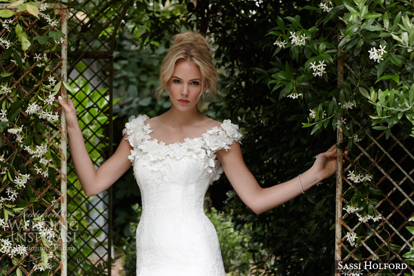 sassi holford bridal 2015 christelle wedding dress