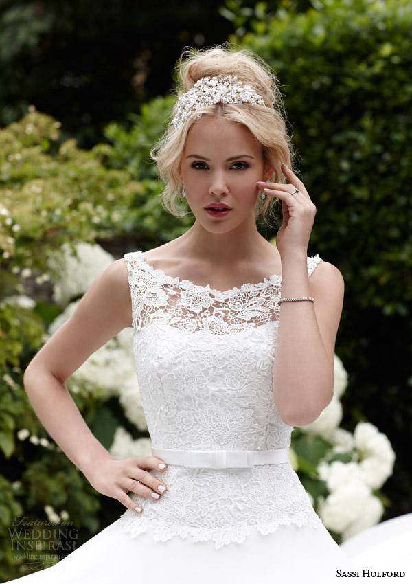 sassi holford bridal 2015 isla sleeveless wedding dress