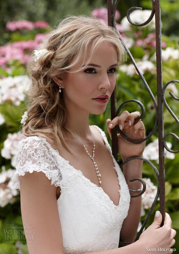 sassi holford bridal 2015 rio cap sleeve lace wedding dress