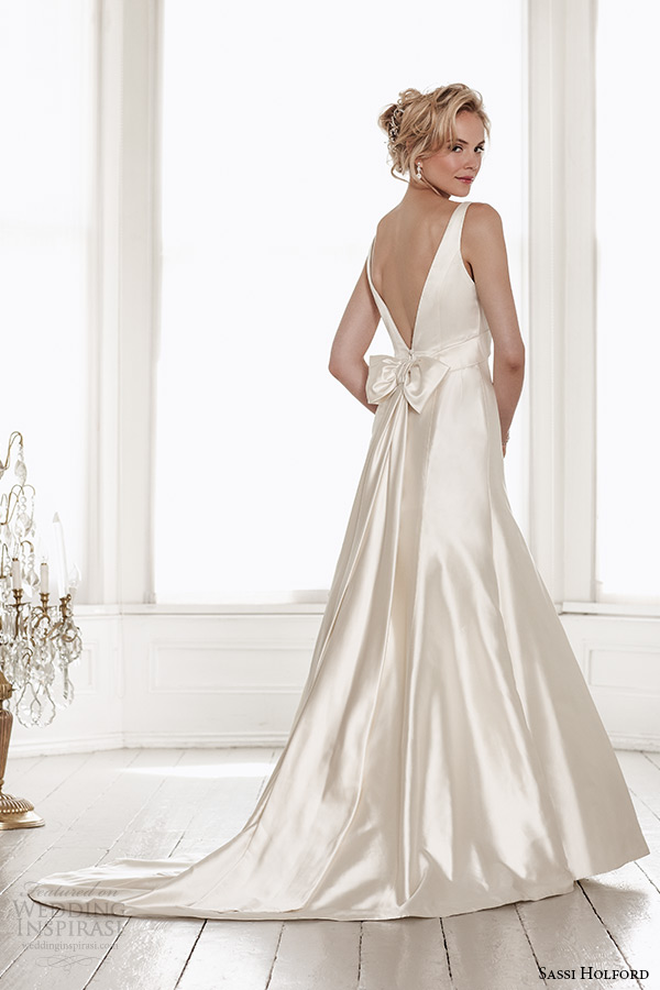sassi holford wedding dress 2015 bridal signature collection sweetheart neckline with strap low v cut back sheath dress style harper