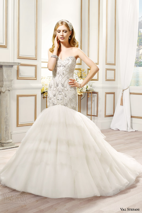 val stefani bridal spring 2015 style d8085 paolina strapless mermaid wedding dress swarovski crystal bodice