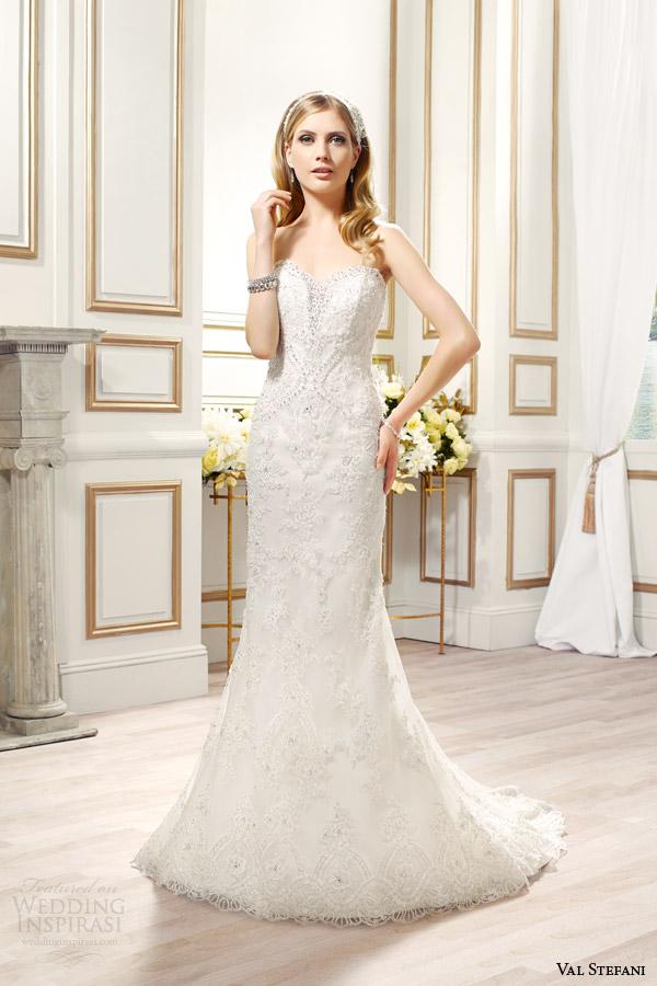 val stefani bridal spring 2015 style d8087 tallulah strapless mermaid wedding dress embroidered lace swarovski crystals
