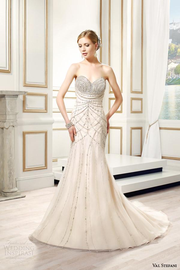 val stefani bridal spring 2015 style d8088 lumina strapless sweetheart fit flare swarovski crystal bodice