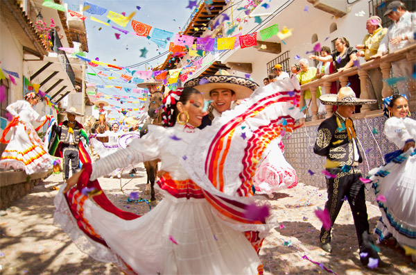 vibrant mexican art culture at puerto vallarta mexico