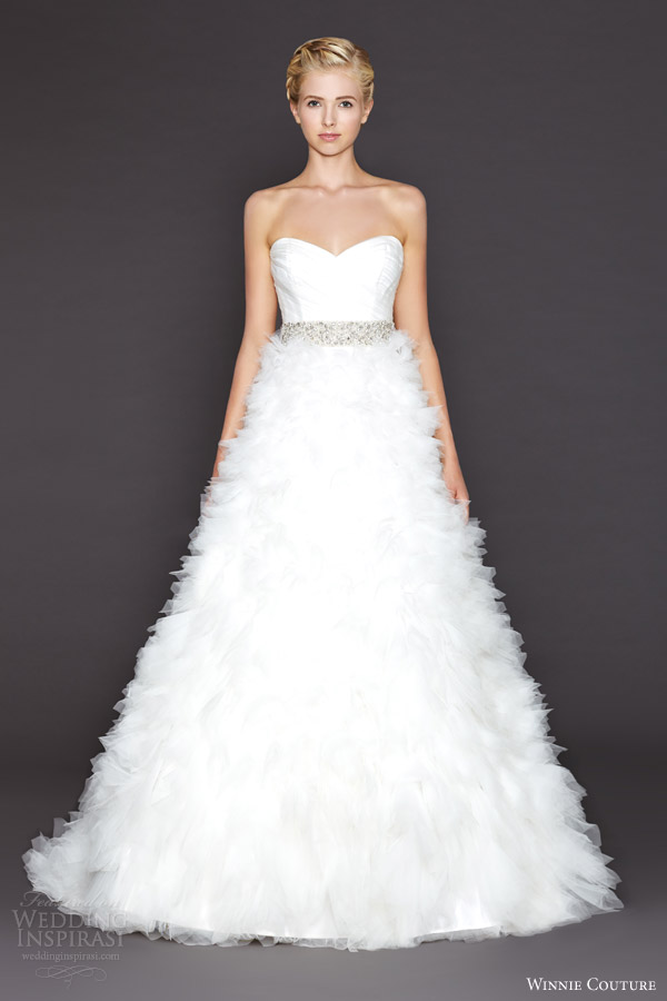 winnie couture bridal fall 2015 ariana strapless a line wedding dress