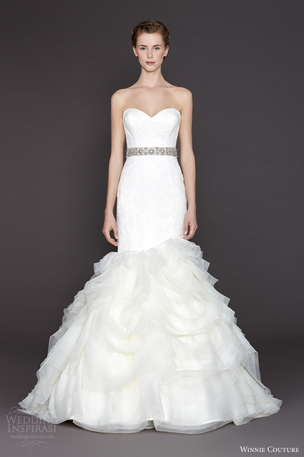 winnie couture bridal fall2015 nicolette strapless mermaid wedding dress ruffle skirt