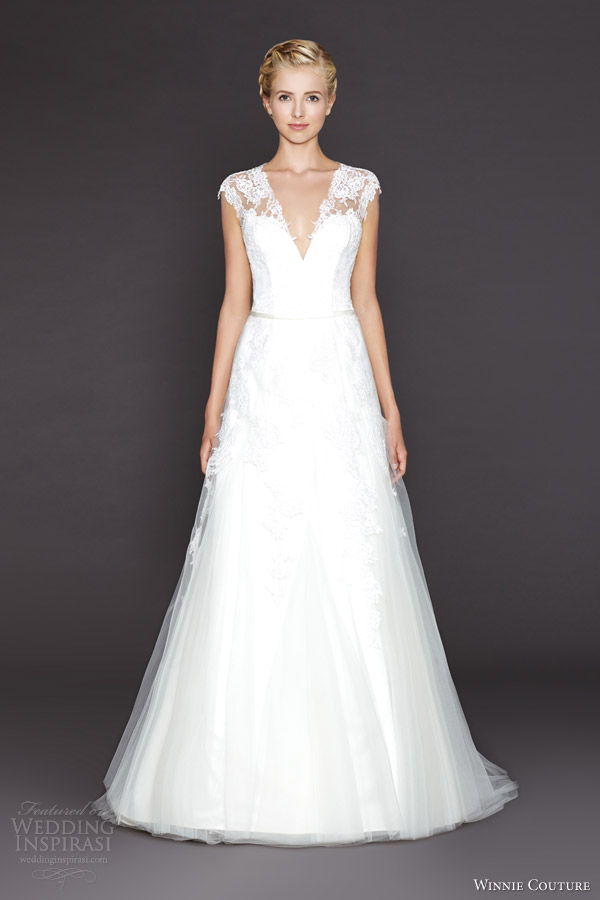 winnie couture fall 2015 daenarys wedding dress with lace cap sleeves