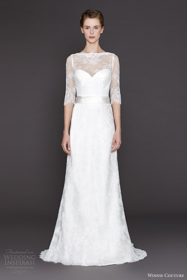 winnie couture fall winter 2015 olena wedding dress illusion neckline sleeves