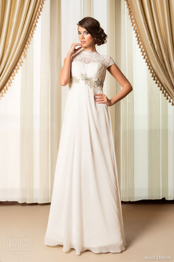 silk empire waist wedding dress
