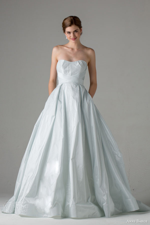 anne barge bridal fall 2015 hayden pale blue strapless a line wedding dress